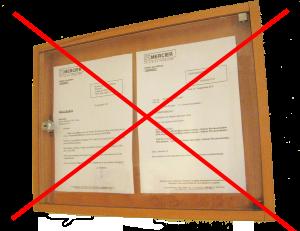 Remplacer le tableau d'affichage d'un immeuble par une l'application phonicode
